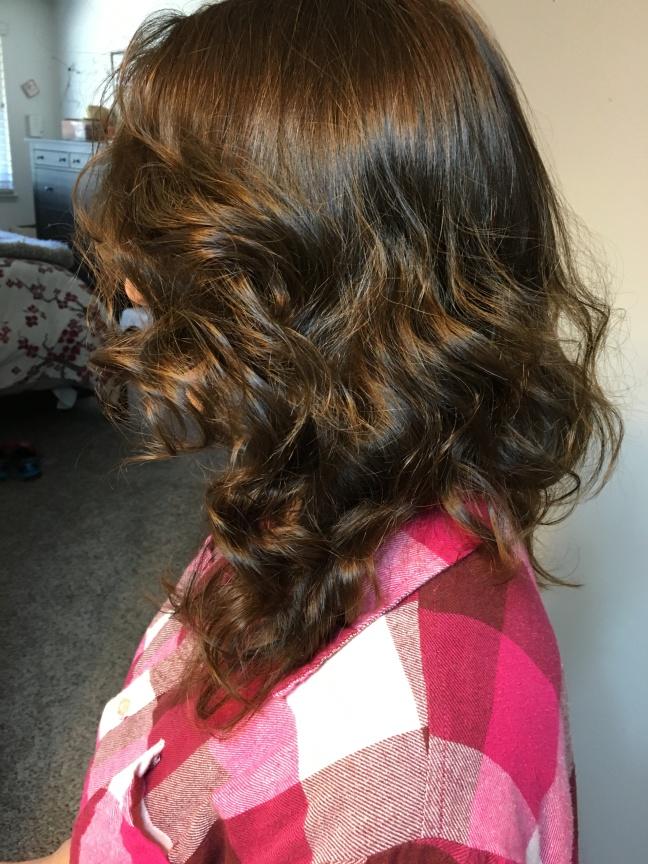 Hair curled FINISH photo