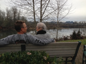 Randy visiting Grandma Fern listening to her stories and advice. RIP Fern.