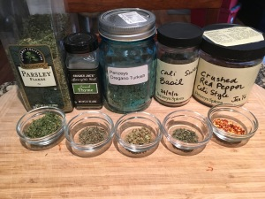 parsley-thyme-oregano-basil-red-pepper-spices