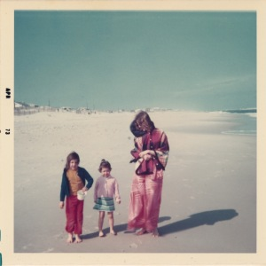 My sister and I with mom on the east coast. Photo by my dad Victor Alvarez.