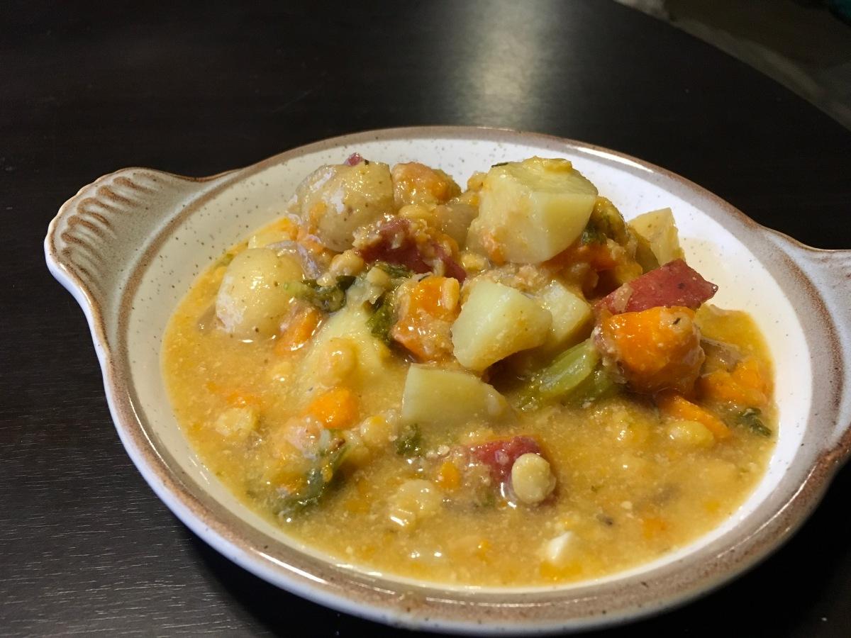 Lentil Potato Stew…with creamy coconutpizazz