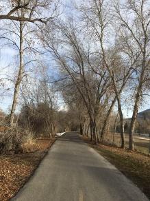 Provo River walk.