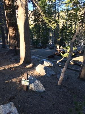 Perfect campsites.